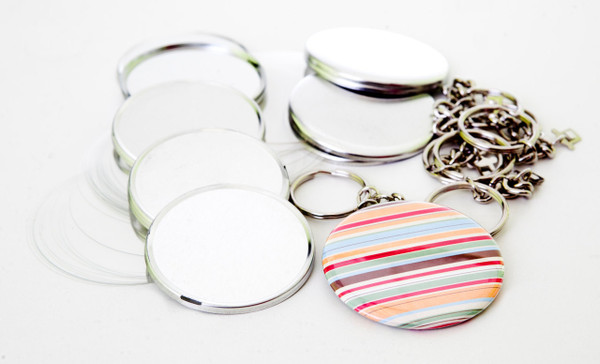 """2.25"""" STD Tecre CHAIN Style Key Chain Parts 2-1/4 Inch - Makes 100 Key Chains-FREE SHIPPING"""
