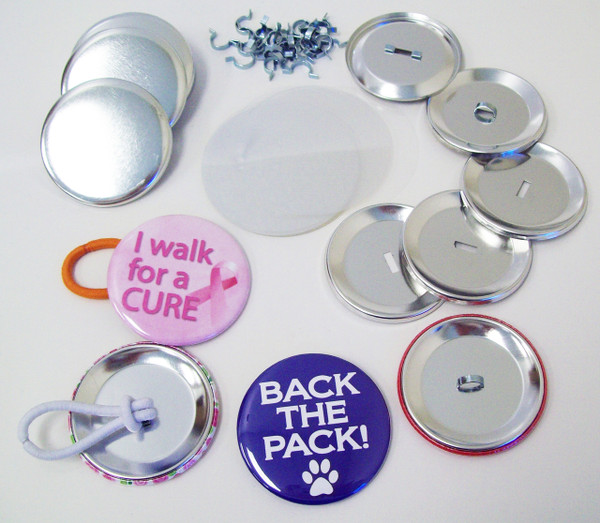 """2.25"""" STD Pony Tail Button Parts 2-1/4 Inch - Makes 500 Pony Tail Buttons-FREE SHIPPING"""