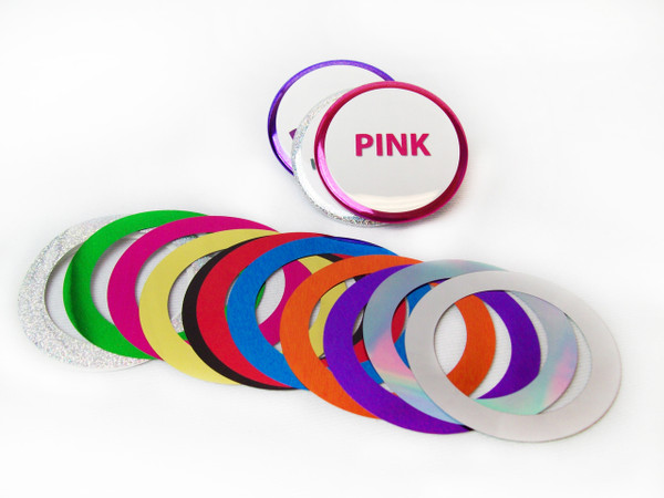 """3"""" Standard Mylar Accent Rings for Button Making Machines - 100 pcs"""