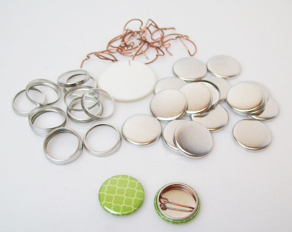 """7/8"""" Tecre Pin Back Button Parts - 5000-FREE SHIPPING"""