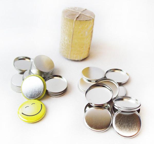 """7/8"""" Tecre Metal Flat Back Button Parts - 500"""