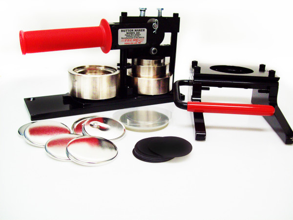 """2.25"""" STD Button Making Kit - Machine, Graphic Punch, 100 Magnet Button Parts 2-1/4 Inch-FREE SHIPPING"""