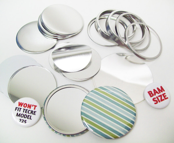 "BAM Size 2-3/8"" (2-1/4"") Mirror Parts for Button Making Machines - 100 pcs"