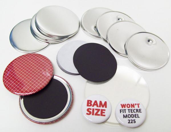"BAM Size 2-3/8"" (2-1/4"") Magnet Parts for Button Making Machines - 200 pcs"