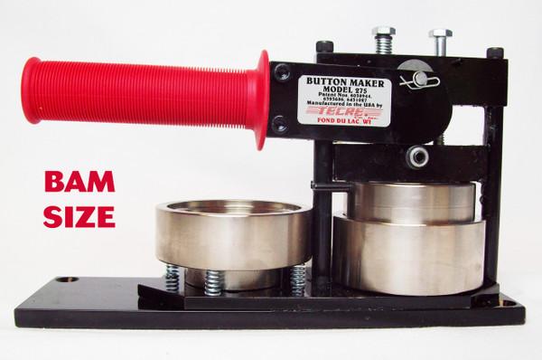 "BAM Size 2-3/8"" (2-1/4"") Tecre Button Maker Machine Model #275 - FREE SHIPPING"