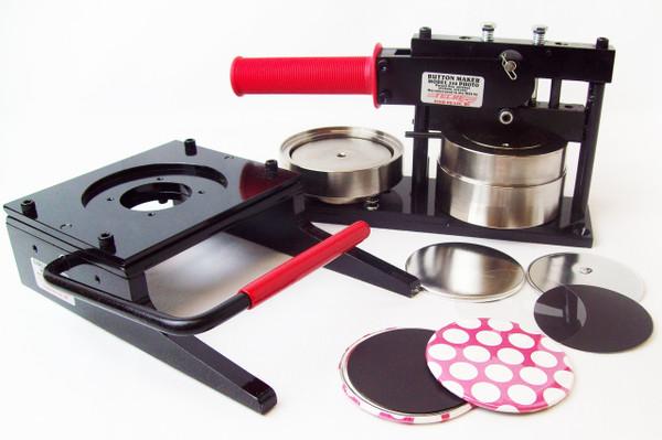 "3.5"" 3-1/2 Inch Button Making Kit - Tecre Button Maker Machine, Tecre Graphic Punch, 100 Magnet Parts"