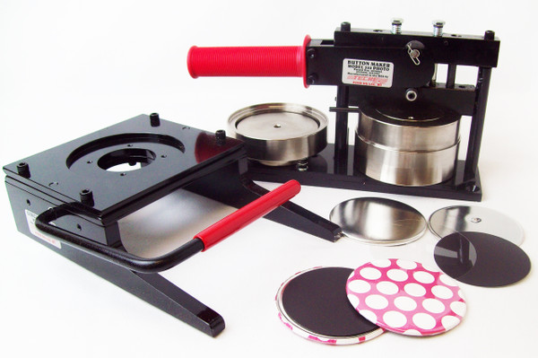 "3.5"" 3-1/2 Inch Button Making Kit - Tecre Button Maker Machine, Tecre Graphic Punch, 200 Magnet Parts"