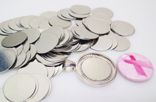 """Steel Metal Discs 3/4"""" 19mm for use to make Magnetic Pendants - 100 discs"""