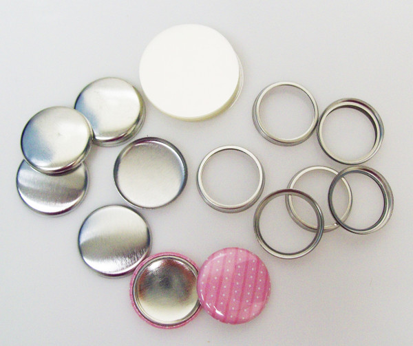 "Complete 1"" Tecre Hollow Back Button Parts 250 pcs."