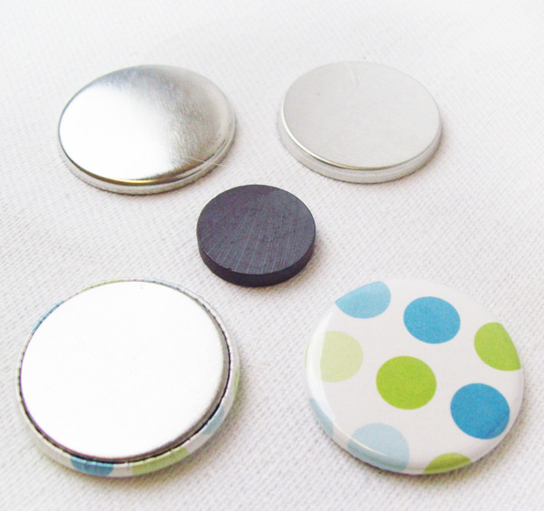 "1.25"" Magnet Flat Backs w/Beveled Perfect Fit Magnets-1000 pcs.-FREE SHIPPING"