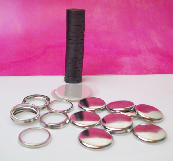 "1"" Complete JEWELRY Ceramic Magnet Parts   -1000"