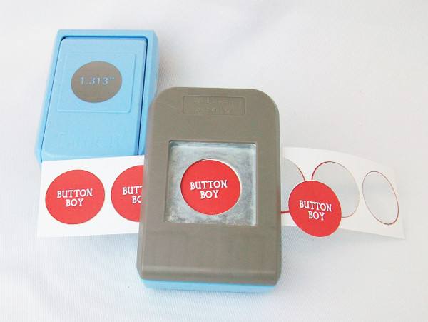"""1"""" Button Boy Double Level Hand Held Punch - for 1"""" buttons- cuts circles 1.313"""""""