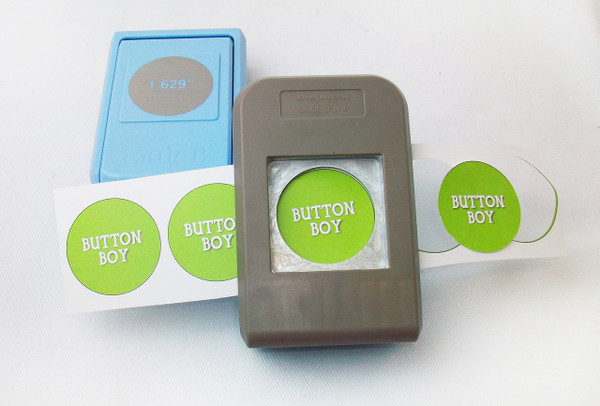 """1.25"""" Button Boy Double Level Hand Held Punch - for 1-1/4"""" buttons- cuts circles 1.629"""""""