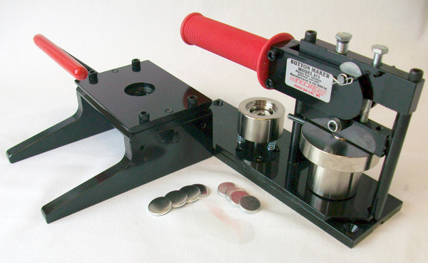 """7/8""""  Button Making Kit - Tecre Button Machine, Graphic Punch, 1000 7/8 Inch Metal Flat Back Button Parts-FREE SHIPPING"""