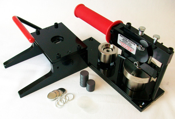 """7/8""""  Button Making Kit - Tecre Button Machine, Graphic Punch, 1000 7/8 Inch MAGNET Button Parts-FREE SHIPPING"""