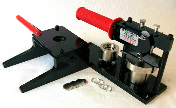 """7/8""""  Button Making Kit - Tecre Button Machine, Graphic Punch, 1000 7/8 Inch HOLLOW BACK Button Parts-FREE SHIPPING"""