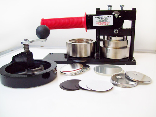 """2.25"""" STD  Button Making Kit - Machine, Fixed Rotary Circle Cutter, 100 Magnet Button Parts 2-1/4 Inch-FREE SHIPPING"""