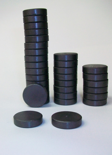 THICK 3/4 inch BEVELED EDGE C8 Strong Ceramic Magnets ONLY for 1 Inch Buttons - 100