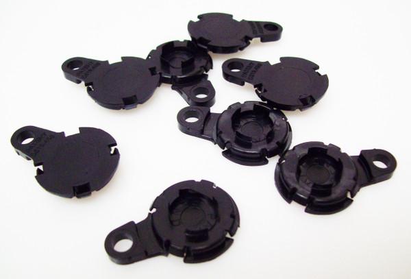 "100 1.25"" Versaback Plastic Only - No Zipper Pull - Black-FREE SHIPPING"