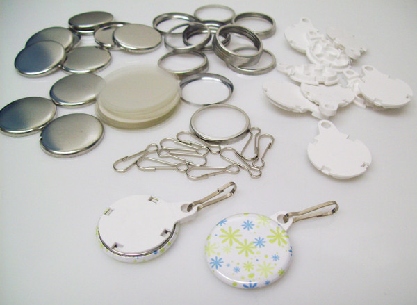 """1.25"""" Tecre White Complete Versa Back Button Parts 1-1/4 Inch - 1000- FREE SHIPPING"""