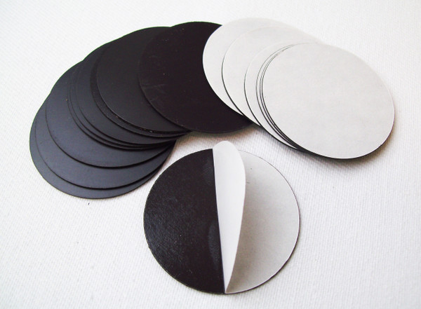 "BAM Round 1-7/8"" Magnets with Peel and Stick Adhesive MAGNETS ONLY - 100 pcs-FREE SHIPPING"