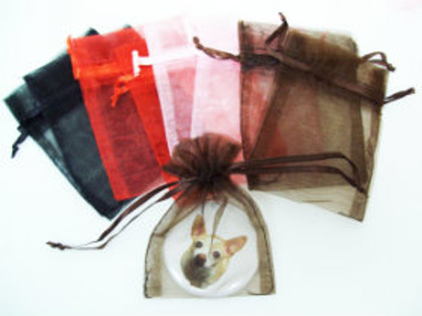 "72 Sheer Organza Bags 3"" x 4"" - 6 Packs of 12 - Choose your color"