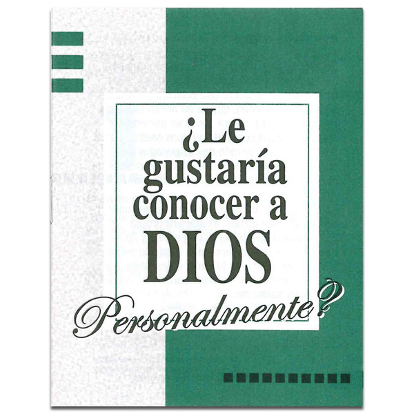 Spanish - Would You Like to Know God Personally? Front cover