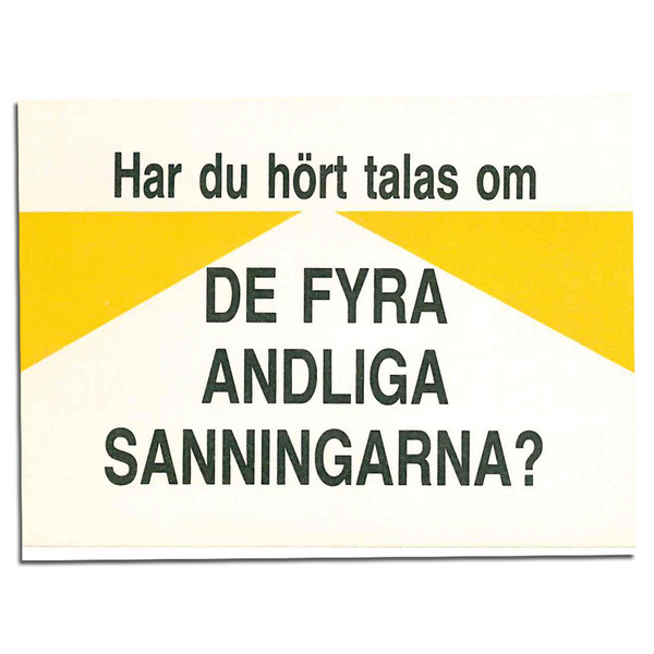 Have You Heard of the Four Spiritual Laws? (Swedish). Front