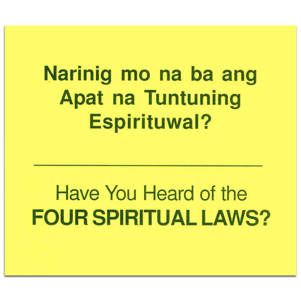 Four Spiritual Laws - Tagalog/English. Front cover