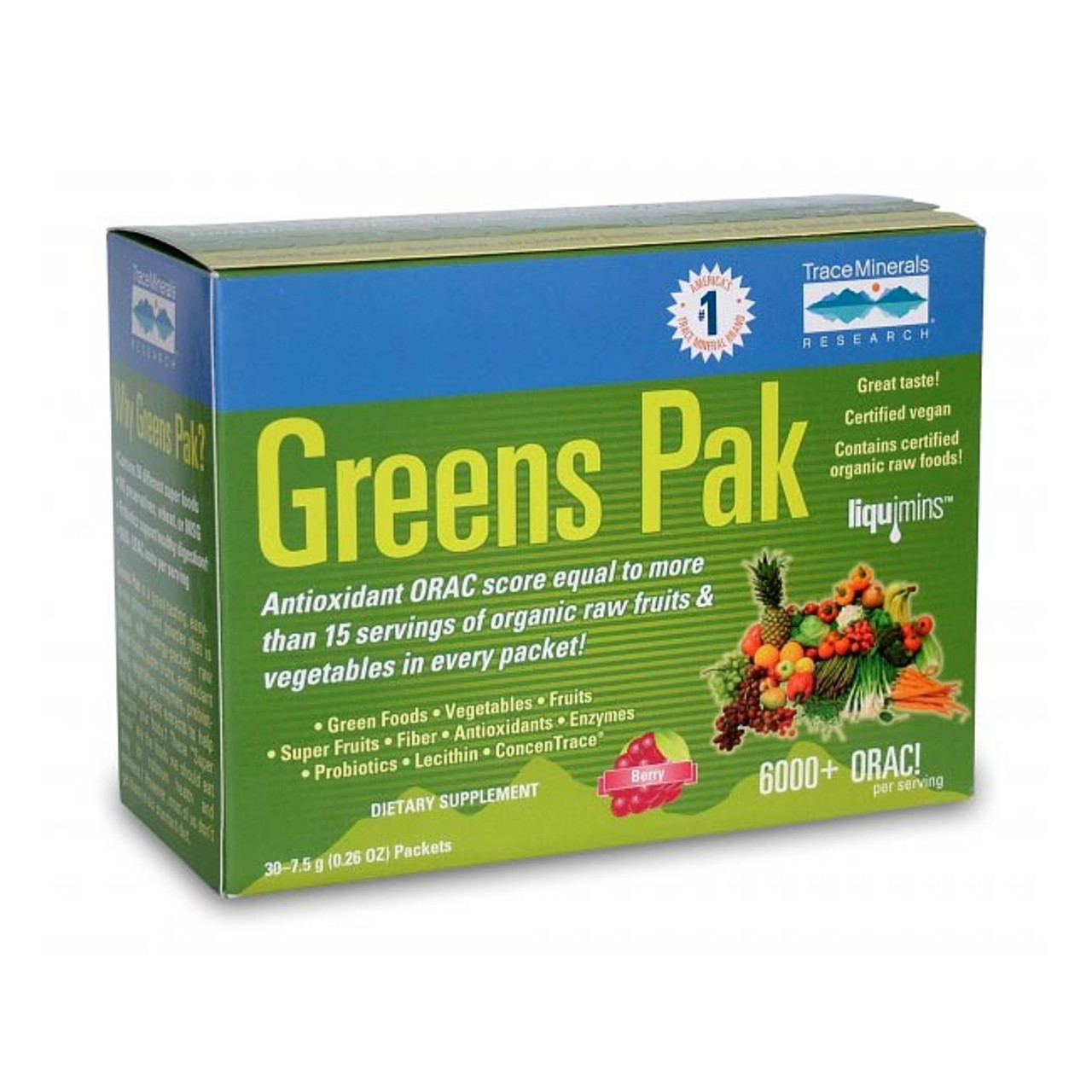Greens Pak by Trace Mineral Naturals