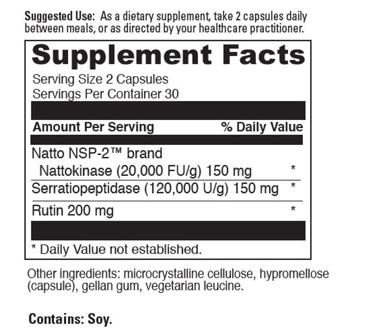 Fibro-T is our Nattokinase+ product