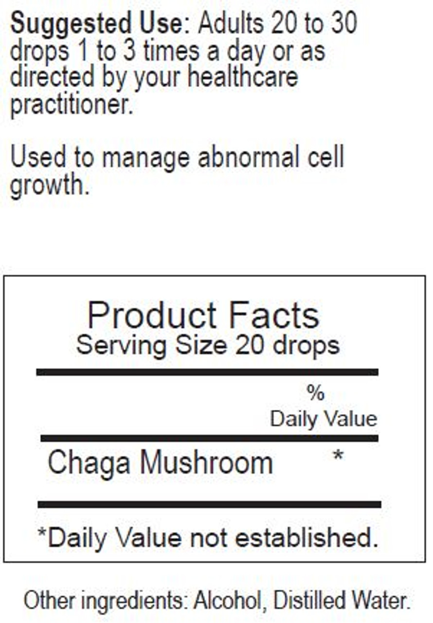 Chaga Herbal Tincture