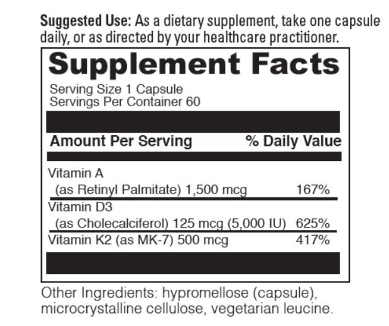 Vitamin A-D & K
