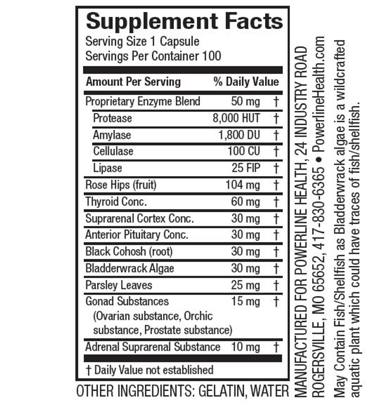 Master H & H - Enzyme Supplement with Herbs & Glandulars