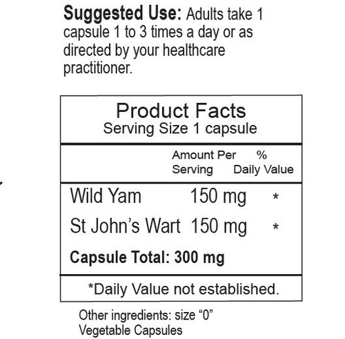Wild Yam & St John herbal remedy