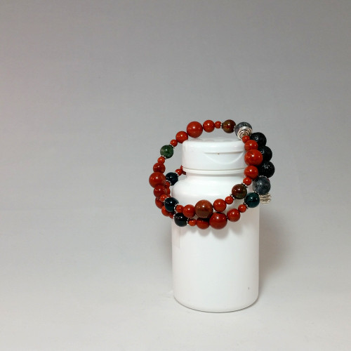 Red Jasper Diffuser Bracelet with Memory Wire