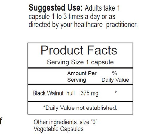 Black Walnut Hull Capsules