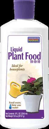 Houseplant Liquid Food 10-10-10 Concentrate - 8 oz