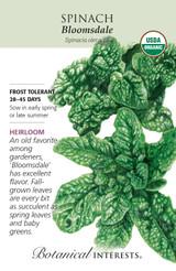 Spinach Bloomale Organic Organic Heirloom