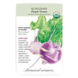 Purple Vienna Kohlrabi Seeds Organic Heirloom