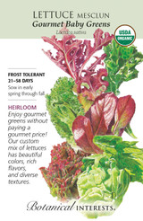 Lettuce Mesclun Gourmet Baby Organic Organic Heirloom