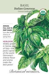 Basil Italian Genovese Organic Organic Heirloom