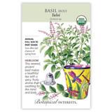 Tulsi Holy Basil Seeds Organic Heirloom