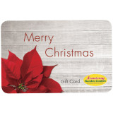 Christmas Poinsettia Gift Card by Mail