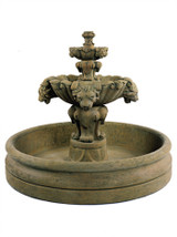 """Lion Fountain, Small with 46"""" Basin"""