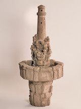 Lighthouse On Cliff Fountain