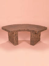 Curved Granite Bench, 4'