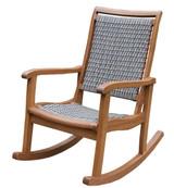Eucalyptus & Driftwood Grey Resin Wicker Rocking Chair