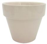 Glazed Ceramic Electric Pot Coral - 4 inch