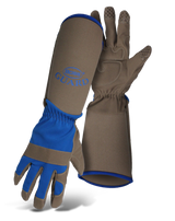 Boss® Guard™ Extended Sleeve Synthetic Leather Men's Garden Gloves - Blue  - Large